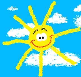 Gruppenumarmung: Sonne!